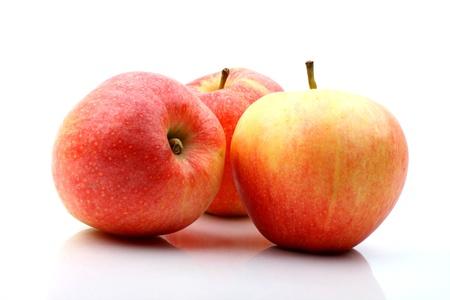 three apple isolated on white background Stock Photo - 10469569