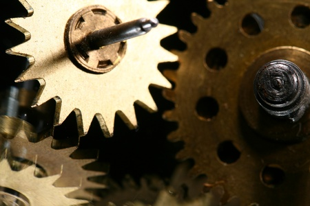 macro mechanical gear background close up Stock Photo - 10469684