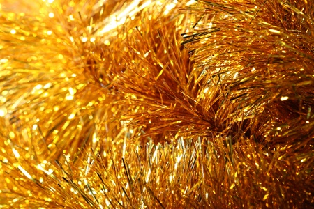 golden stars holiday background macro close up Stock Photo - 10469785