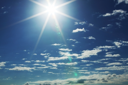 clear day: blue sunny sky close background