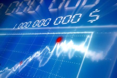 contabilidad financiera: fondo abstracto de negocios azul gráfico