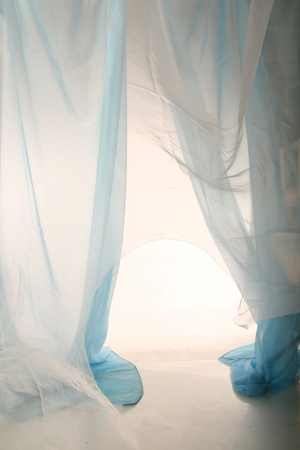 wedding veil: fabric abstract material background light  Stock Photo