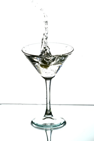 splash mixed: alcohol martini splash mixed cocktail Stock Photo