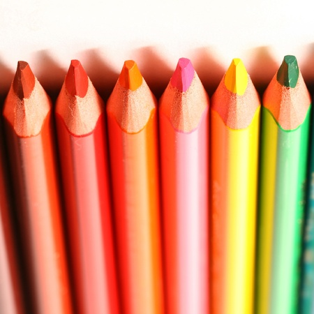 color pencil pallete macro close up photo
