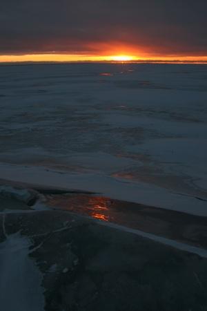 dawn sun sunset winter landscape photo