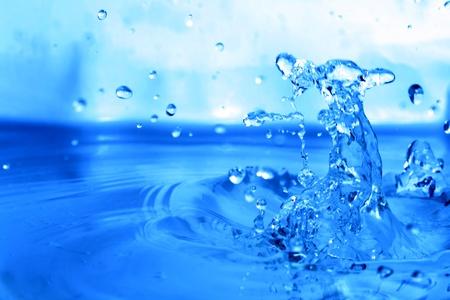 water splash macro close up photo