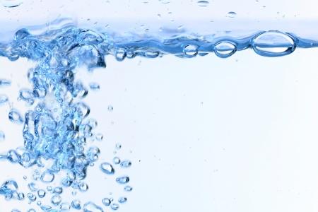 水: 水中氣泡blose在白色背景