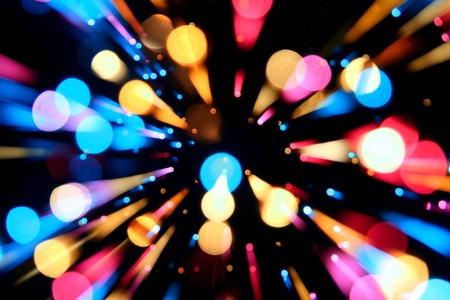 motion colored  bokeh abstract background Stock Photo - 10535343