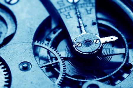 mechanisms: clock gear macro close up