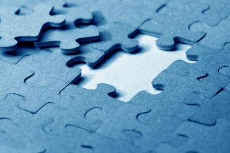 graphicals: puzzle combined objects macro close up  Stock Photo