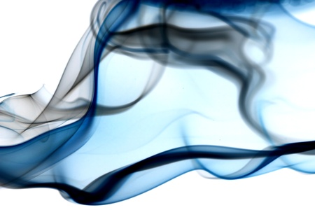 smoke: blauwe rook abstracte achtergrond close-up