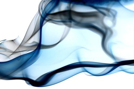 air flow: sfondo astratta fumo blu close up Archivio Fotografico