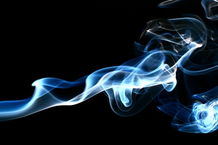 blue flame: blue smoke abstract background close up