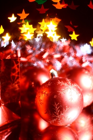 holiday gifts background warm stars  Stock Photo - 10535425