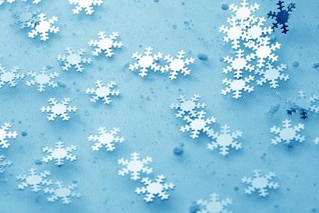 snowflakes macro close up christmas background photo