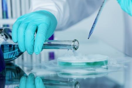 industria quimica: macro experimento químico de cerca
