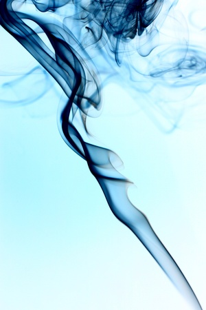 blue smoke abstract background close up Stock Photo - 10611303