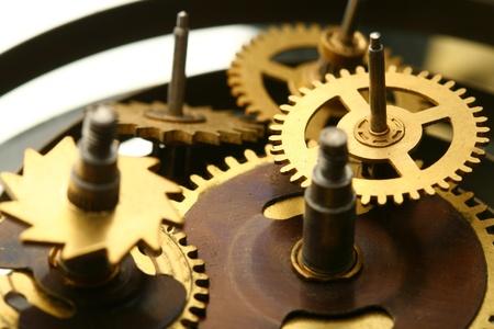 mechanical clock gear macro close up photo