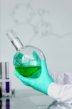 chemical experiment macro close up photo