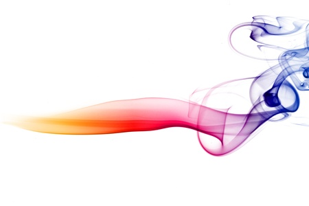 smokey: multicolored smoke natural abstract background Stock Photo