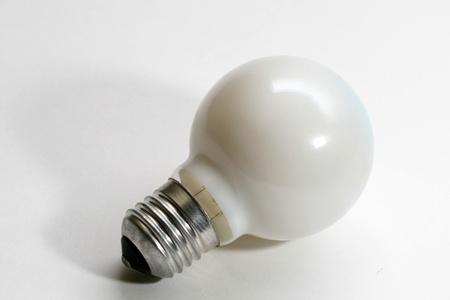 close up bulb on white background photo