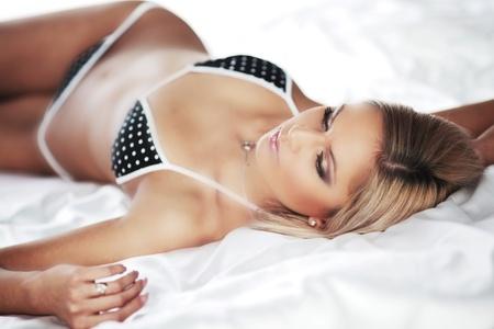 underwear woman close up portrait Stock Photo - 10705613