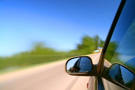 speed drive blurred transportation background Stock Photo - 10724330