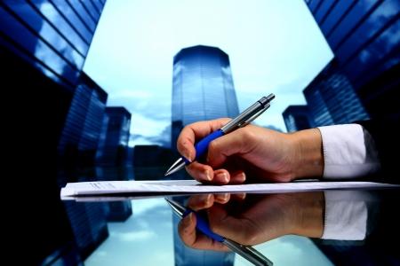 reuniones empresariales: Fondo de negocio de presentaci�n profesional Foto de archivo
