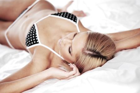 underwear woman close up portrait Stock Photo - 10813717