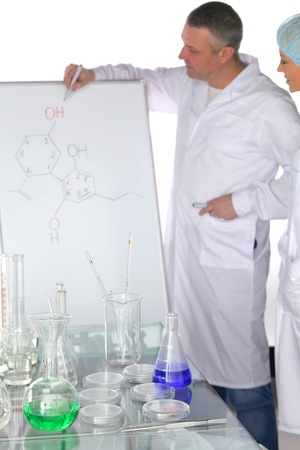 Chemistry Scientist conducting experiments in laboratory Stock Photo - 10813715