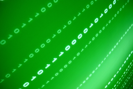 computer program: green data space abstract background