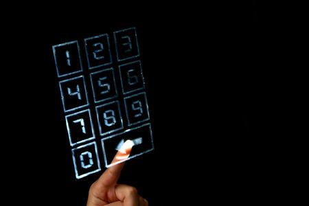 secret code: enter secret code on numpad security control Stock Photo