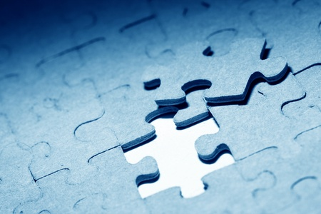 puzzle combined objects macro close up  photo