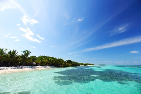 tropical island in blue sea Stock Photo - 10895961