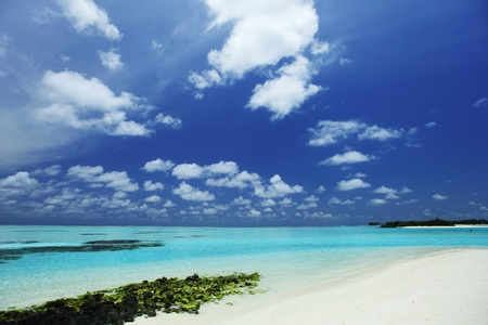 sea landscape blue water and reef Stock Photo - 10895957