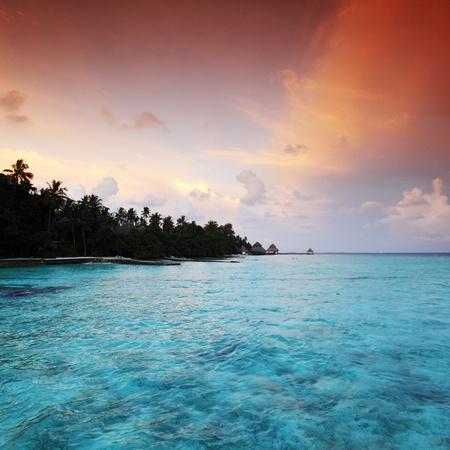 sunset on the sea beach Stock Photo - 10895964
