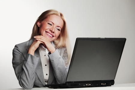 business woman working on laptop Stock Photo - 10940870