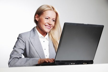business woman working on laptop Stock Photo - 10940853