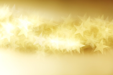 shiny background:  golden star bokeh background close up Stock Photo