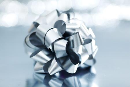 silver christmas gift macro close up Stock Photo - 11001908