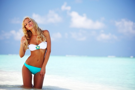 woman in bikini on sea beach Stock Photo - 11031622