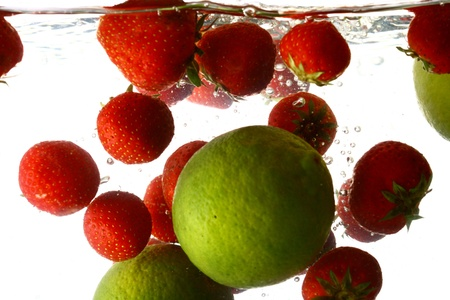 lime splash isolated on white background Stock Photo - 11031077