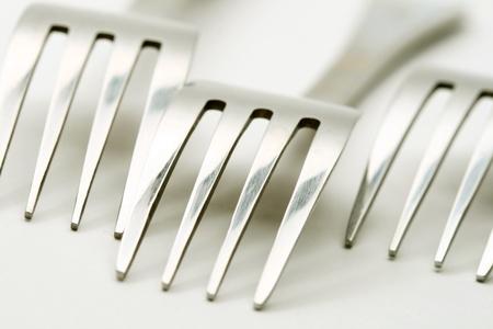 function: fork macro close up diner background