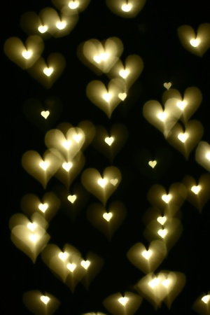 bokeh hearts background abstract macro Stock Photo - 11072867
