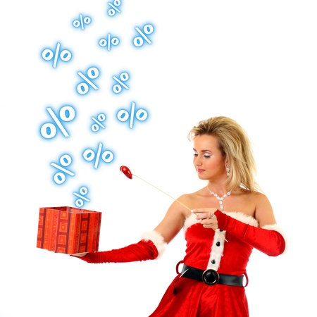 santa girl have magic sale Stock Photo - 11072849