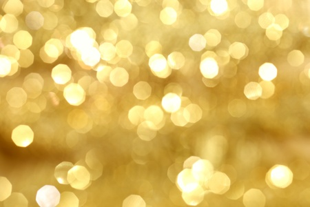 blurry lights: sfondo dorato bokeh close up