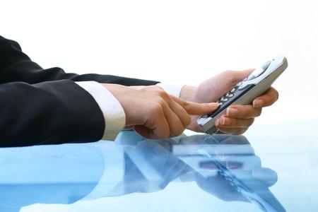 phone calls: take phone in hands and make call