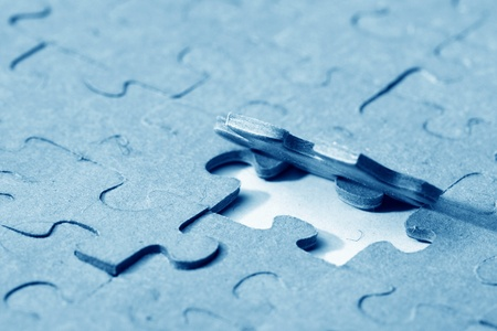 puzzle combined objects macro close up  Stock Photo - 11122602