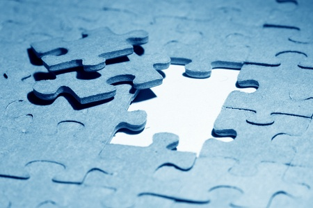 problems solutions: puzzle combined objects macro close up  Stock Photo