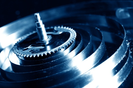 mechanical clock gear macro close up photo